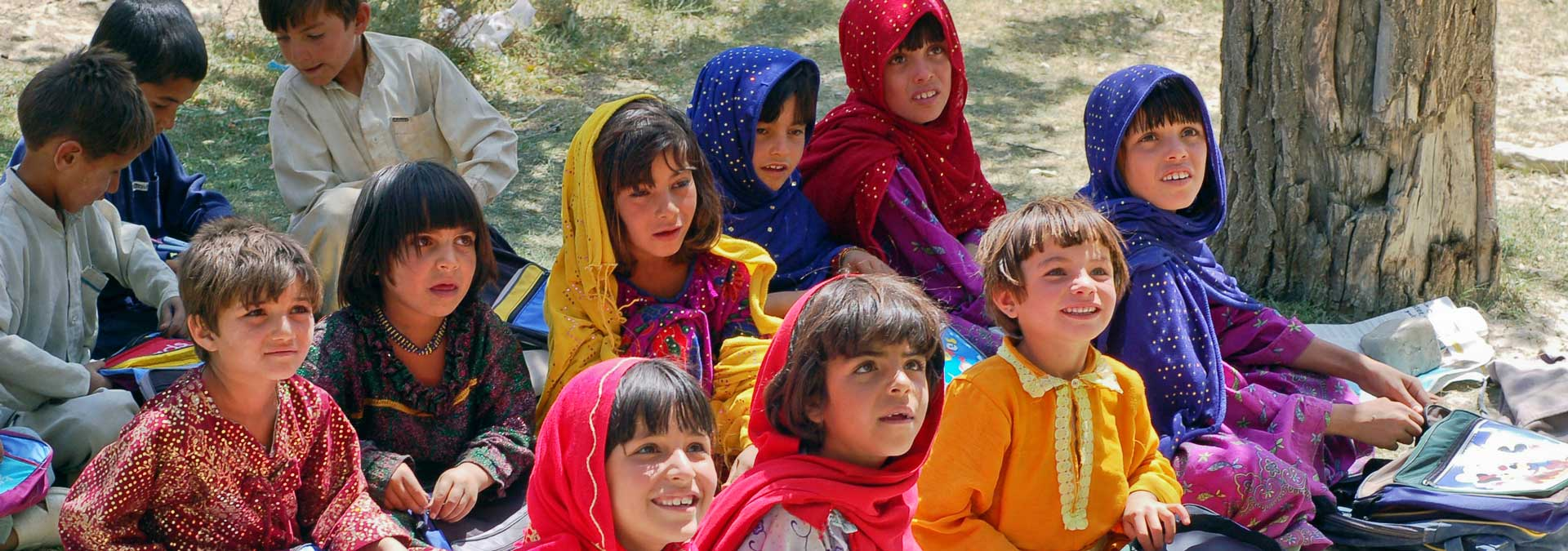 Children sitting Bamozai