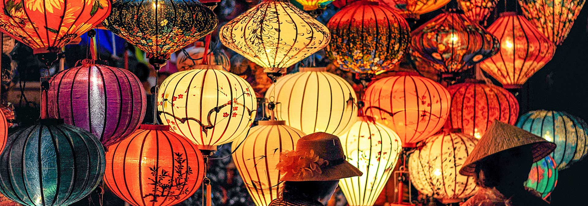 Colored asian lanterns